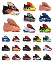 Wholesale indoors boots shoes for sale - New Predator Predator FG PP Paul Pogba soccer x cleats Slip On football boots mens high top soccer shoes cheap