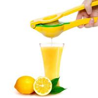 bakır alaşımlar toptan satış-Çift Katmanlar Limon Portakal Sıkacağı Alüminyum Alaşım Sıkacağı El Manuel Narenciye Basın Mutfak Meyve Araçları 60 adet OOA5425