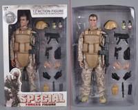 ensembles de jouets de l'armée achat en gros de-Noël PVC 5 Style 12