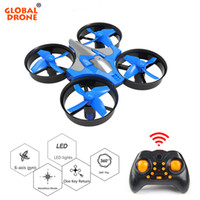 Wholesale micro gyro helicopter for sale - Group buy Global Drone Micro Drone One Key Return RC Helicopter Axis Gyro Headless Mode Mini Drones Quadrocopter Toys For Children