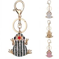 Wholesale frog keychains resale online - Fashion Metal HandBag Pendant Unique Crown Frog Keychain Purse Bag Keychains Accessories Styles