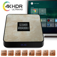 Wholesale newest tv box resale online - Newest Android TV Box DDR3 G GB K Android H bit Media Streaming Player Smart Box Support G WiFi Mbps BT4 USB3