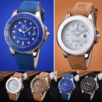 women watches sale geneva 2018 - Fashion Hot sales Unisex Geneva Leather PU Quartz Watches Men Women fashion casual Roma Men's Watch Casual dress rose gold wrist watches