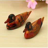 animais de jardim de resina venda por atacado-Resina 2 PCS Mandarin Duck Animal Miniatura de Fadas Jardim Decoração de Casa Mini Artesanato Micro Paisagem Decoração de Casa