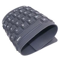 Wholesale wireless silicone bluetooth keyboard - No Typing Noise Flexible Silicone Bluetooth Keyboard Wireless Keyboard