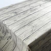 atividades de cor branca venda por atacado-Frete grátis venda quente de grãos de madeira de algodão toalha de mesa capa de mesa de fundo tapete de mesa pad para fotos tiro