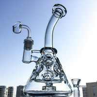 Wholesale small oil rig bong resale online - Fab Egg Glass Beaker Bongs Showerhead Perc Bong Inch Mini Recycler Dab Rig Water Pipes Small Oil Rigs Bubbler Smooth Pipe MFE09