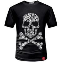 moda giyim modelleri toptan satış-Çuha Erkekler Yaz 3D T gömlek Sokak Moda Modelleri Aşk Moda Kafatası Soul Chariot Kaya T-shirt Erkek Giyim Polyester