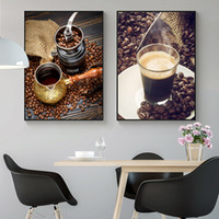 Wholesale Nordic Coffee Theme Photography Canvas Posters Print Modern Wall Art Pictures For Living Room Dinning Room Cafe Office Aisle