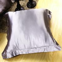 mejores fundas de almohada al por mayor-La mejor venta Funda de almohada de seda doble Funda de almohada de seda 100% Funda de almohada de camello Estándar 48x74 cm 0r 70 * 70 cm 1 unids