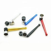 Wholesale Tobacco Grinders For Cheap - 12pcs 90mm Metal Bowling tobacco Smoking pipe cigarette herb pipes smoke cigar gadgets for herb grinder hookah cheap price gift