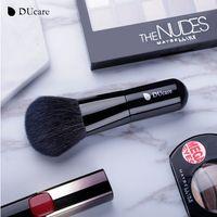волосы кабуки бесплатно оптовых-1 PC Powder Brush Kabuki Face Makeup Brushes Soft Goat Hair High Quality Cosmetics Tools free shipping