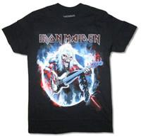 bajo de hierro al por mayor-Iron Maiden Bass Smoke Fear The Dark Ed Black T Shirt Nueva Merch Oficial