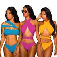 Wholesale swimwear retail online - American Europe Sexy Summer Swimsuit Bikini Womens Sexy Swimsuit Swimwear Lady Bikini Retail