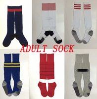 Wholesale hoses home - 18 Ars home white football socks AJAX away Knee High cotton soccer stocking ARSENALL mens sports socks Thicken Towel Bottom long hoses