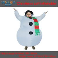 schneemann aufblasbar großhandel-Vivid Snowman Maskottchen Kostüm Aufblasbare Santa Kleid Adult Fancy Dress Xmas Party Spiel Outfits