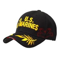 Wholesale marines hats - New Popular Embroidered Marine Corps Baseball Cap Tactical Hat MARINES Embroidered Army Hood Cap Adjustable Baseball Cap
