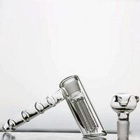hochwertige glasbongs großhandel-Mini Hammer Bubbler Glas Bongs Neueste Mode Tabak 6 Arm-baum Percolators Rauchen Bongs Ölplattformen Wasserpfeifen Top Qualität Günstige Shisha