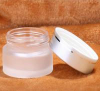 glaspflegebehälter groihandel-50g Milchglas Gläser, 50ml Frost Creme Gläser für Hautpflege Creme Flaschen, 50g Glas leere Kosmetikbehälter 60pcs
