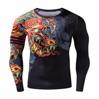 ingrosso vestiti freddi del partito-Cosplay T-shirt divertenti Stile cinese Drago Cool T-shirt 3d Moda Hip Hop Festa Abbigliamento di marca Uomo Plus Abbigliamento fitness