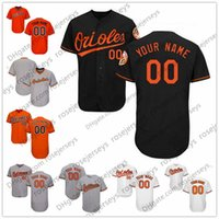 Wholesale Baseball Jersey Baltimore - Custom Baltimore Baseball Jerseys Mens Womens Youth Kids Gray Road White Black Orange Personalized Stitched Any Your Own Name Number S,4XL