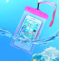 Wholesale waterproof camera plastic bag for sale - High quality waterproof snowproof and dustproof universal inch mobile phone bag transparent diving swimming camera shooting