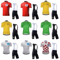 bike jerseys men Canada - Tour de France team Cycling Short Sleeves jersey (bib) shorts sets summer Ropa Ciclismo breathable quick dry men mtb bike clothes 90423J