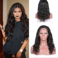 Wholesale virgin human hair wigs sale for sale - Cheap Density Full Lace Wigs Water Wave Peruvian Hot Sale Virgin Human Hair Natural Color Can Be Dyed In Stock G EASY