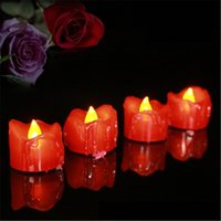 Wholesale led red candle bulb - RED LED Tea Light Candles Householed velas led Battery-Powered Flameless Candles Church and Decoartion and Lighting H293