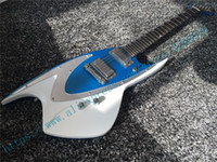 Wholesale Electric Guitars Sparkle - Factory product; blue sparkle metallic shark shape body locking tuner electric guitars;J BACKLUND DESIGN JBD 400 series;