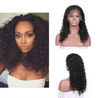 Wholesale tangled long hair for sale - Group buy Best Selling Products Deep Wave Lace Front Wigs With Baby Hair inch In Stock No Tangle No Shedding G EASY