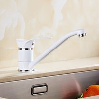 Wholesale vanity contemporary - Free Shipping kitchen faucet white 360 degree swivel kitchen sink Faucet Mixer vanity luxury water tap mixer
