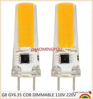 luzes g8 venda por atacado-10 PCS LED COB 10 W GY6.35 G8 110 V 220 V dimmable LED GY6.35 110 V G8 220 V cob2508 escurecimento g6.35 cob2508 luz de cristal