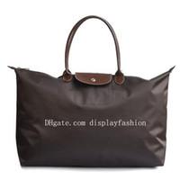 Wholesale waterproof shopping tote resale online - Classic Fashion Brand Designer Waterproof Women Nylon Handbags Long handle Women s Shoulder Bags Casual Totes shopping bag