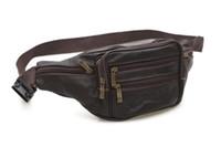 quality belt bag UK - Black Fashion Mens Leather Waist Bags Vintage Belt Casual Bags Retro High Quality Women Fanny Waist Packs Wallet Brown Baok -4151