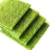 ingrosso paesaggio verde del prato inglese-Micro Landscape Originalità Fairy Garden Miniature Simulazione Green Moss Lichen Ecology Artificial Lawn Bryophyte Home Decorations 1 5cj ff