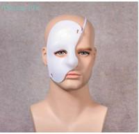 máscaras faciales de ópera fantasma al por mayor-Fantasma de la etapa de la Ópera Show Drama Props Plástico Half Face Una sola mirada Multicolor Máscara Festival Party Supplies