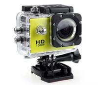 câmeras de filmagem a prova de ação esportiva venda por atacado-SJ4000 À Prova D 'Água 2.0 Polegada Tela LCD estilo 1080 P Full HD Filmadoras Capacete Esporte Câmera 30 M Câmera de Ação VS SJcam DHL Livre