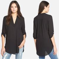 S ~ 5XL Frauen Hemd 95/% Baumwolle Übergröße Gestreift Reverskragen Bluse 2019