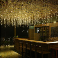 açık dekorasyon ışıkları perde toptan satış-Yeni Yıl LED Perde Icicle Dize Işıklar 5 m 16.4ft Sarkıt 96Led Peri Garland Işık Noel Açık Dekorasyon Için