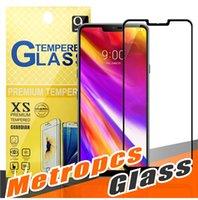 capas de telefone zte venda por atacado-Para J2 CORE LG G7 Huawei Companheiro 20X P20 lite PRO STYLO 4 ZTE Lâmina Zmax 2.5D Cobertura Completa de Vidro Temperado Protetor de Tela Para telefone Metropcs