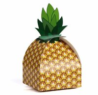 Wholesale case candy gift for sale - Paper Pineapple Gift Box Candy Case Wedding Favors Gift Candy Boxes Beach Wedding Decorations Home Party Birthday Supplies