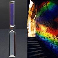 оптические призмы оптовых-Тройной Призма оптическое стекло тройной треугольная Призма физика рефрактор обучение свет спектра измерения инструменты
