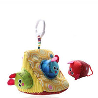 Wholesale cloth animal baby rattles resale online - Baby Rattle Mobile Toy Cloth Triangle Cube Rattles Animal Plush Toy Bed Hanging Early Newborn Baby Educational Toys Months