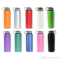 Wholesale insulation prices online - Factory price oz Vacuum water bottle Insulated Stainless Steel Water Bottle Wide Mouth big capacity travel water bottles Multi Colors