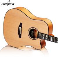 holz für gitarren großhandel-Gitarren 41 Zoll Picea Asperata Holz Elektrische Akustikgitarre Palisander Griffbrett Guitarra mit Gitarrensaiten