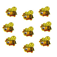 sevimli dikiş yamaları toptan satış-10 adet sevimli arı yamalar giyim için böcek rozetleri demir işlemeli yama aplike demir on yamalar dikiş aksesuarları için giysi