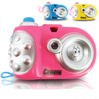 Wholesale variety toys wholesale - Projection Camera Toy LED Light Electric Novelty Toys Variety Animal Pattern Kids Fun Gifts Puzzle Educational Props Hot Slae 1 57bx Z