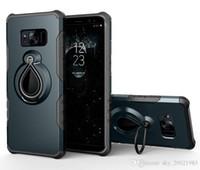 halka tutacağı stand toptan satış-Hibrid Darbeye Vaka Samsung Galaxy S8 Artı Vaka Araba Tutucu Standı Manyetik Emme Parmak Yüzük Galaxy S8 Zırh Kapak Için Döndür Yüzük
