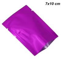 ingrosso accessori da cucina viola-7x10 cm Sacchi sottovuoto in foglio di alluminio Mylar viola Sacchi di confezionamento in lamina di alluminio Sacchetti termici sottovuoto Campione per accessori da cucina
